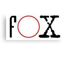 FOX - X files Canvas Print