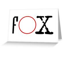 FOX - X files Greeting Card