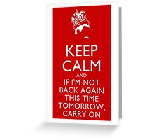 Freddie Mercury Keep Calm Greeting Card