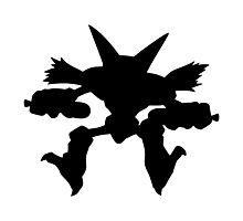 Alakazam silhouette Photographic Print