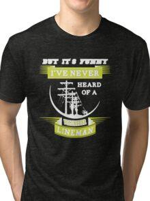 Volunteer Lineman T-shirt Tri-blend T-Shirt
