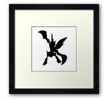 Scyther silhouette Framed Print