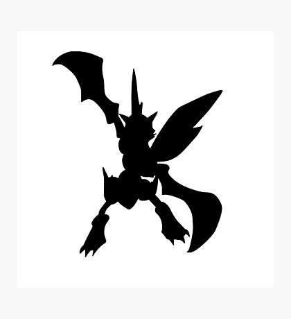 Scyther silhouette Photographic Print