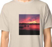 Pleasant Lake Sunset Classic T-Shirt
