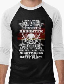 not my daughter Men's Baseball ¾ T-Shirt