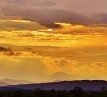 Sunset on the Mountain Sticker