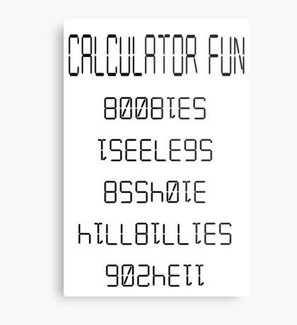 calculator fun Metal Print