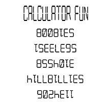 calculator fun Photographic Print