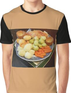 Roast Chicken with Vegetables Graphic T-Shirt