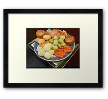 Roast Chicken with Vegetables Framed Print
