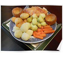Roast Chicken with Vegetables Poster