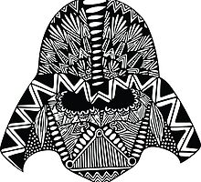 Darth Vader Zentangle by ehoehenr