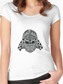 Darth Vader Zentangle Women's Fitted Scoop T-Shirt