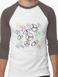 Color Helicopters Men's Baseball ¾ T-Shirt