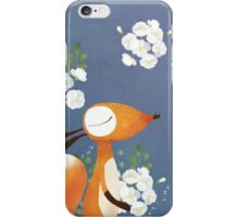 Fox and White Rose iPhone Case/Skin