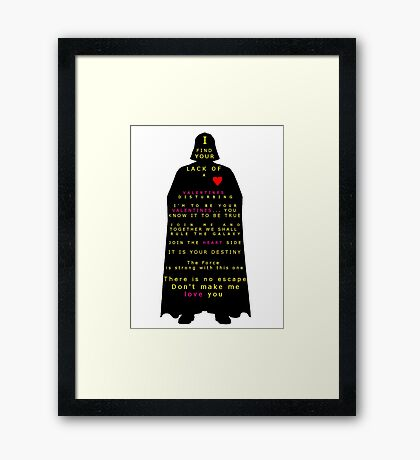 Star Wars Darth Vader: Valentines Framed Print