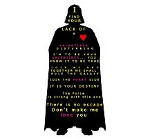 Star Wars Darth Vader: Valentines Photographic Print