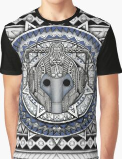 Aztec Future Robot Pencils sketch Art Graphic T-Shirt