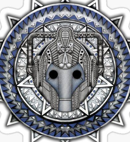 Aztec Future Robot Pencils sketch Art Sticker