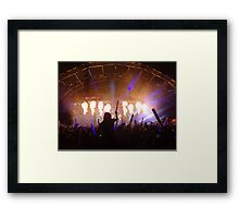 flame on concert  Framed Print