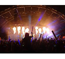 flame on concert  Photographic Print