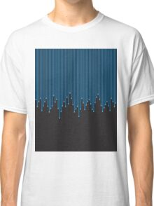 Blue Paint Drips over Black Background Classic T-Shirt