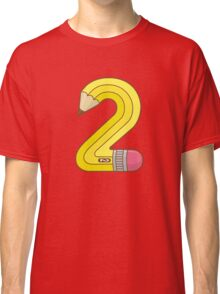 #2 Pencil Classic T-Shirt