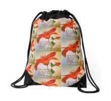 Red Flower Drawstring Bag
