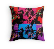 Race Mania Motocross Racers Throw Pillow