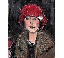The Red Hat 1920's #1 in a Series Photographic Print