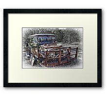 Aged Toyota Framed Print