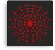 Spider Web - Red Canvas Print