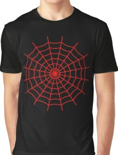 Spider Web - Red Graphic T-Shirt