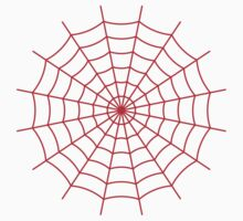 Spider Web - Red Kids Tee