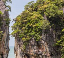 Khao Tapu rock at James Bond island, Andaman Sea, Thailand Sticker