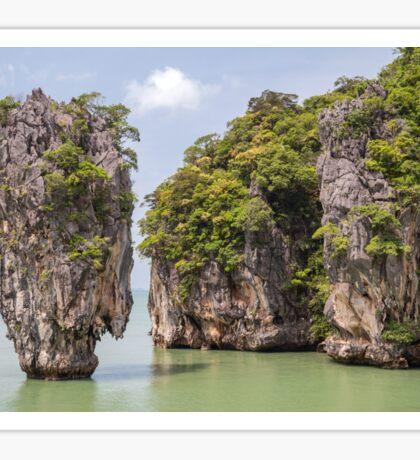 Khao Tapu rock at James Bond island, Andaman Sea, Thailand Sticker
