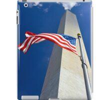 American flag at Washington monument, Washington, DC iPad Case/Skin