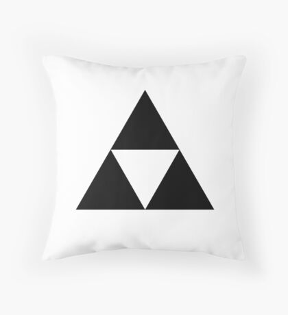 Black triforce Throw Pillow