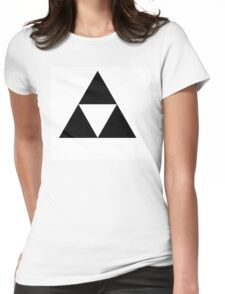 Black triforce Womens Fitted T-Shirt