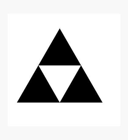 Black triforce Photographic Print