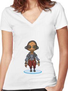 Maz Women's Fitted V-Neck T-Shirt