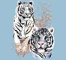 White Tigers  Unisex T-Shirt
