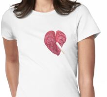 Anthurium VALENTINE  Womens Fitted T-Shirt