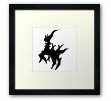 Arceus Silhouette Framed Print