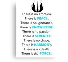 Jedi Code Canvas Print