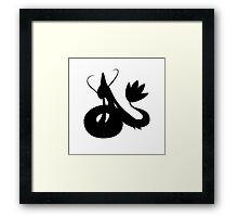 Milotic Silhouette Framed Print