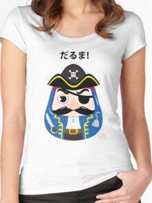 Pirates Daruma Women's Fitted Scoop T-Shirt