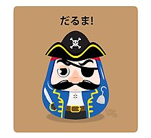 Pirates Daruma Photographic Print