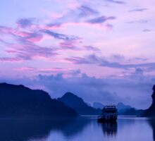 Sunrise in Halong Bay, Vietnam Sticker
