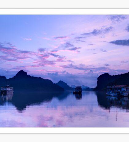 Sunrise in Halong Bay, Vietnam Sticker